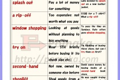 Shopping  idioms