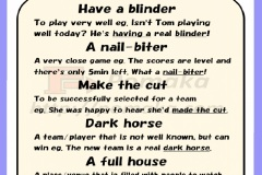 Sports idioms