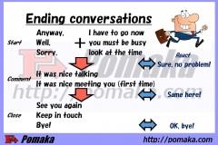 Ending conversations